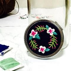 손거울 플라워 꽃 프랑스자수 패키지 도안 DIY 키트