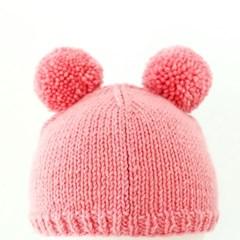 니팅키트- 신생아 더블폼폼 모자