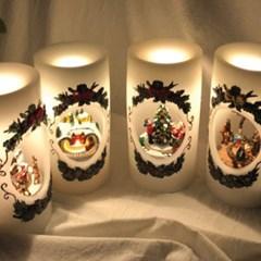 [adico] 크리스마스 LED 캔들 - 성탄