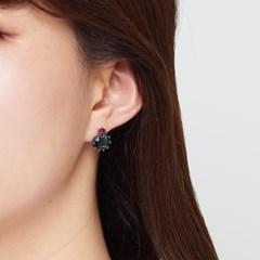 블루 사파이어 귀걸이