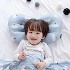 코니테일 아기 경추베개 - 그레이체크(어린이 유아베개 이탈방지)