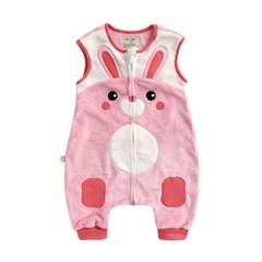 [극세사]ZOO_래빗 극세사수면조끼 유아수면조끼 아동수면조끼