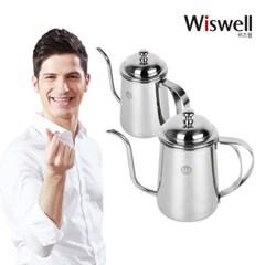 위즈웰 WK700S 커피 드립포트 핸드드립 주전자 0.7L