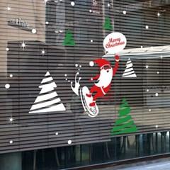 크리스마스시트지_스노우보드 산타클로스_(860940)