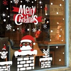 크리스마스시트지_굴뚝과 산타_(860924)
