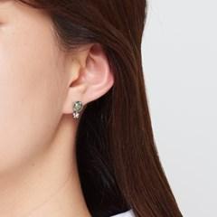 원석 미니플라워 귀걸이
