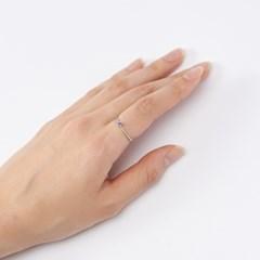 블루 큐빅 볼록 반지