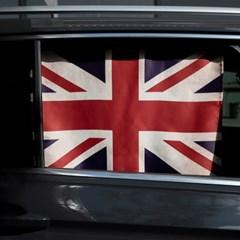 빈티지 유니언잭 차량용 햇빛가리개/다용도가리개커튼