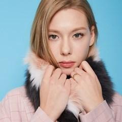[러브참] 진그레이 핑크 폭스 머플러