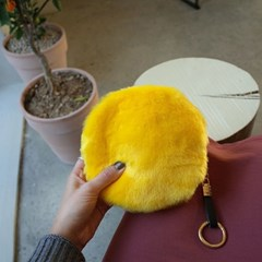 Fur Circle Yellow