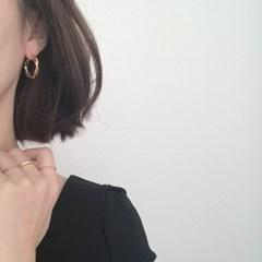 [무광 볼드 링 귀걸이] 어텀링 이어링