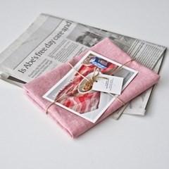 플레인 린넨 키친크로스 pink (테이블매트 겸용)
