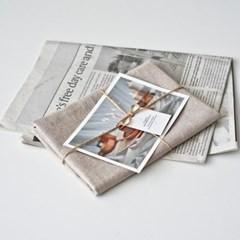 플레인 린넨 키친크로스 beige (테이블매트 겸용)