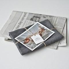 플레인 린넨 키친크로스 dark gray (테이블매트 겸용)