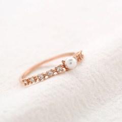 로맨틱 펄 반지