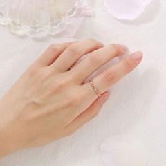 리본 큐빅 반지