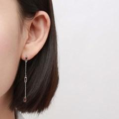 오블롱 브라운 귀걸이