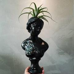 자개아트 중형 비너스여인 석고상화분 38cm내외+리본2