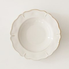 antique flower series - rim plate (2size)
