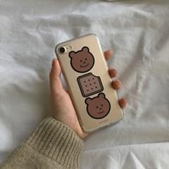 [뮤즈무드] cookie bear (clear) 아이폰케이스