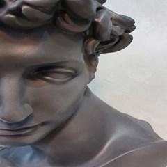 블랙컬러 쥴리앙 대형 석고상화분 65cm내외 리본2개