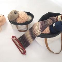 비라이트 타이벡 방수방진 양면 뜨개질 가방 겸 바구니