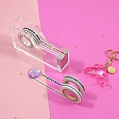 MASKING TAPE_JEWELRY_01 - WHITE & RAINBOW GEM