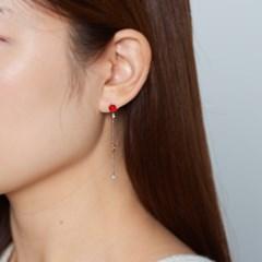 큐빅 문별 귀걸이