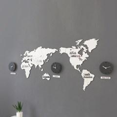 세계지도 벽시계 (무소음)_(1115257)