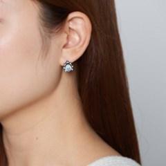 물방울 큐빅 귀걸이