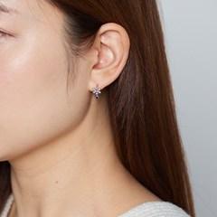 퍼플 플라워 귀걸이