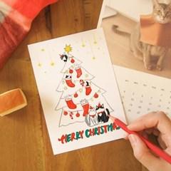 크리스마스 컬러링 엽서액자