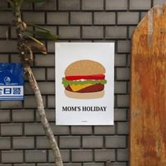 유니크 인테리어 디자인 포스터 M 맘스 홀리데이 수제버거 햄버거