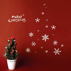 1AM 크리스마스 데코 스티커 눈꽃 시트지_(1244784)