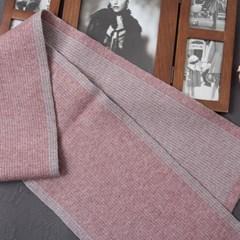 [더로라]넥크 소형 머플러 - 4줄 엣지 양면골지 S8231