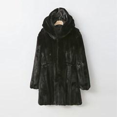 Minky Echo Fur Hood Coat