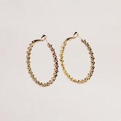 [2컬러]twist hoop earring