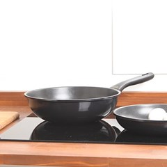 (2종세트) 하트만 블랙엣지 후라이팬 24cm+궁중팬 26cm