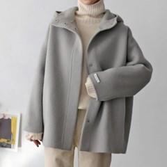 Aplpaca Hood Short Coat - 한정수량 특가
