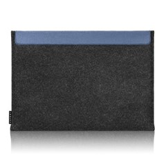Sleeve for Macbook air & Macbook (Graphite/Blue)