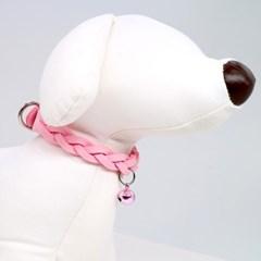 강아지 반려견 대형견 목걸이 목줄 인식표 네임택 겸용-스웨이드