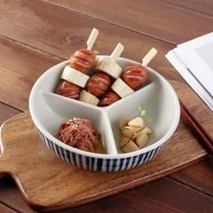 일본식기 야나기 나눔 찬통 대