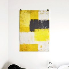 패브릭 포스터 F242 추상화 그림 액자 Yellow and Grey