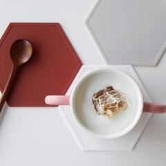 [단독 2+1]AL 헥사곤 실리콘 컵받침