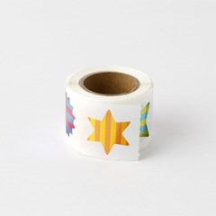 Roll Sticker - Star Metallic