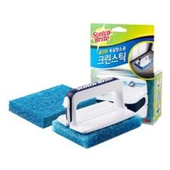 [3M]크린스틱 올인원 욕실청소용 핸들+롱핸들+리필18입_(1613627)