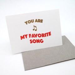 Favorite Song 페이보릿송 레터프레스 카드