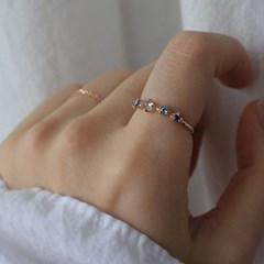 런던블루 토파즈 일랑 반지(11월탄생석)