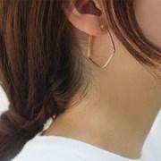 귀걸이 오각 심플 링
