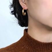 14K GOLD PLATING 브랜 귀걸이 925 실버_(1811127)